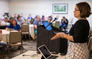 Speaker addresses AFI 2019 Conference attendees