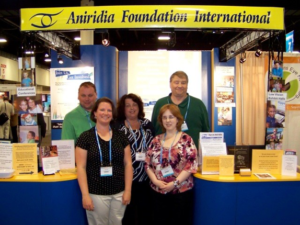 Attendees at AFI trade show booth